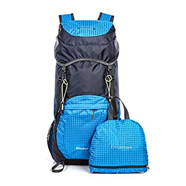 ENKNIGHT 40L Lightweight Travel Water Resistant Backpack/foldable Hiking Daypack Blue