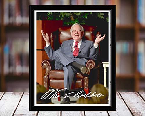 (Warren Buffett Autograph Replica Print - 8x10 Desktop Framed Print-)