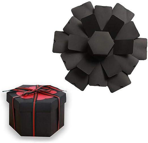 Caja de regalo de explosión creativa para álbum de fotos, álbum de recortes, caja sorpresa con 6 caras, caja de regalo para boda, compromiso, cumpleaños, aniversarios, día de San Valentín: Amazon.es: Hogar