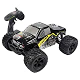 UniDargon 9200 RC Off-Road Vehicle for Kids with 2.4GHz 4WD 40KMH+ High-Speed Remote Control Pickup Trucks with 1:12 Full Scale (Black)