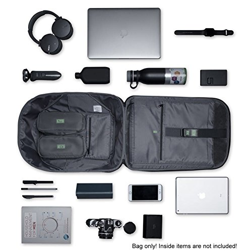 Korin Design ClickPack Pro - Anti-theft BackPack Laptop Bag with USB charging port large capacity waterproof TSA travel friendly Black and Grey by Korin Design (Image #3)