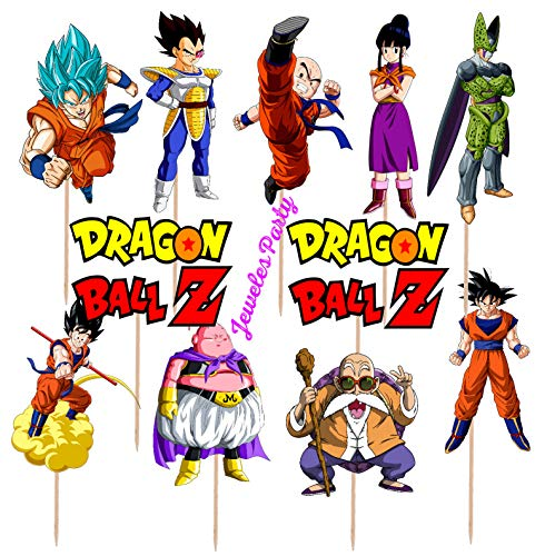 Price comparison product image 24pc Dragon ball dragonball super z Goku Cup Cake Cupcake Toppers Birthday Party Latex Balloons balloon