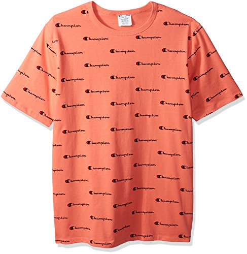 fbf9e9ce Champion LIFE Men's Heritage Tee with All Over, Cw Chp Script Ripe Papaya  Red, S - Buy Online in Oman.   Apparel Products in Oman - See Prices, ...