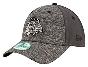 NHL Chicago Blackhawks Men's The League Shadow 9FORTY Adjustable Cap, One Size, Gray