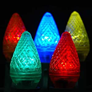 Novelty Lights Inc Reviews : Amazon.com: Novelty Lights, Inc. C7-LED-MU Outdoor Patio Party Christmas Replacement Bulbs ...