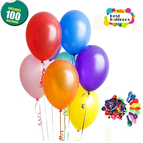 Balloons for Party, Assorted Color Party Balloons (100 Pcs)–Premium Quality Natural Rubber Latex 10 Inch Balloons for Birthday Wedding Baby Shower Christmas Graduation Holidays Events Home Decoration from Antancy