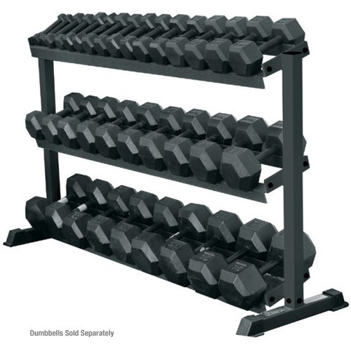 York 3 - Tier Pro Hex Dumbbell Rack by Ironcompany.com