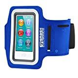 iPod Nano 7 Running Armband, Smash Terminator Custom Made Reflective Sports Exercise Gym with Dual Arm-Size Slots and Key Pocket (As Seen in Runners World Magazine - 5 Stars) inc.