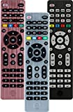 GE Universal Remote Control for Samsung, Vizio, LG, Sony, Sharp, Roku, Apple TV, RCA, Panasonic, Smart TVs, Streaming Players, Blu-ray, DVD, Simple Setup, 4-Device, Silver, 33709