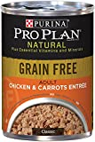 Cheap Purina Pro Plan Wet Dog Food, Natural Grain Free Adult Chicken & Carrots Entre, 13-Ounch, Pack of 12