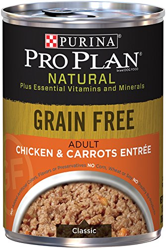 Purina Pro Plan Wet Dog Food, Natural Grain Free Adult Chicken & Carrots Entre, 13-Ounch, Pack of 12