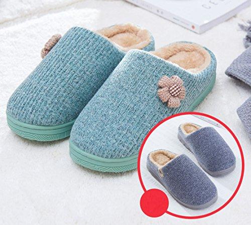 Hiver Coton Femme de Int Pantoufles Hxw1q