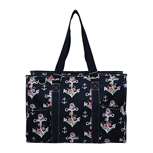NGIL All Purpose Organizer Medium Utility Tote Bag 2018 Spring Collection (Rose Anchor ()
