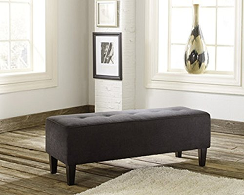 Signature Design by Ashley Oversized Accent Ottoman in Charcoal