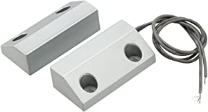 uxcell Rolling Door Contact Magnetic Reed Switch Alarm with 2 Wires for N.O. Applications MC-56