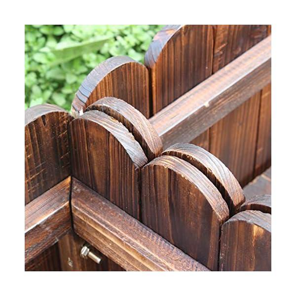 HEMFV Legno Planter Box, Forma for Il Giardino, Patio o Finestra Esterna Vaso di Fiori di impianto di Sicurezza 5 spesavip