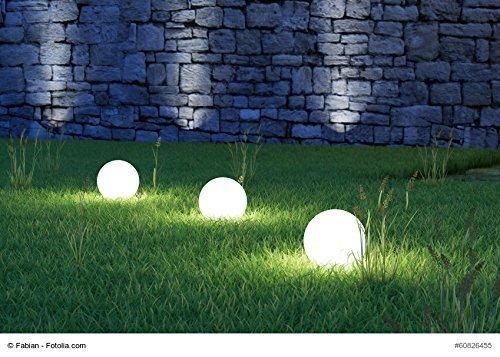 Set di cm sfera luci da giardino con illuminazione a led
