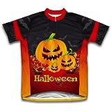 Creepy Pumpkins Short Sleeve Cycling Jersey for Men