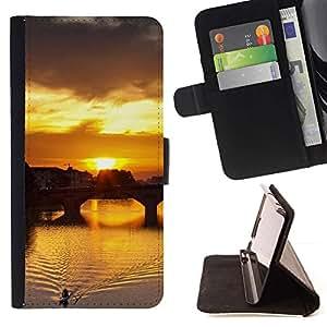 For Apple (5.5 inches!!!) iPhone 6+ Plus / 6S+ Plus Case , Sunset Beautiful Nature 115- la tarjeta de Crédito Slots PU Funda de cuero Monedero caso cubierta de piel