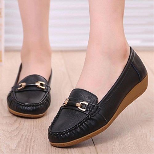 Shoes 6 Bombas Loafer Antideslizante Single 6 Cuero Genuino Bottom Work Spring Negro uk Nvxie Eur Señoras 39 Soft Flats 5 Nuevo Leisure De Party Fall Eur38uk55 Comfort qYPwgtEn7