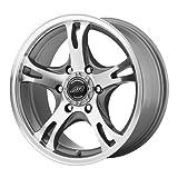 cheap 17 rims - American Racing Custom Wheels AR898 Dark Silver Wheel With Machined Face (17x8