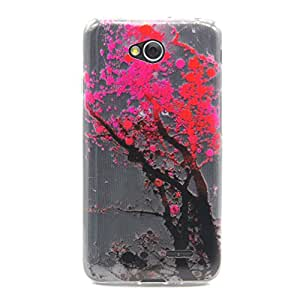 case cover para LG Optimus L70,Crisant flor del ciruelo Diseño Protección suave TPU Gel silicona Teléfono Celular Back funda Carcasa para LG Optimus L70