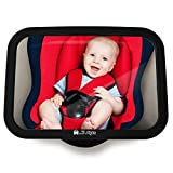 Baby Back Seat Mirror - Shatterproof Car Rearview Mirror to see Child/Infant in Baby Seat, Safety Mirror, Easy Installation, Anti-Wobble Effect, Tight & Universal Fit