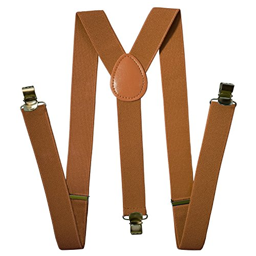 Suspenders Men - Stylish - Adjustable Solid Straight Clip by Action Ward 8ebaa171a