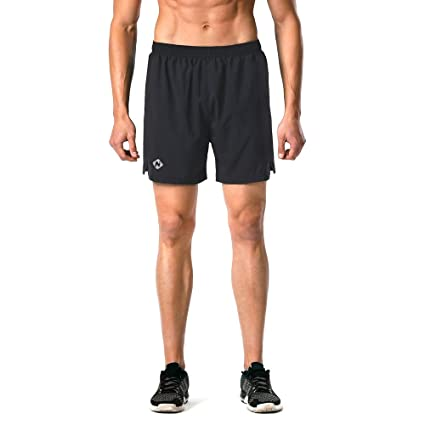 "d0cf9d02ca Naviskin Men's 5"" Quick Dry Running Shorts Workout Athletic Outdoor Shorts  Zip Pocket ..."