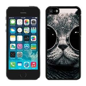 Customized Portfolio Iphone 5C TPU Case Christmas Cat Black iPhone 5C Case 44