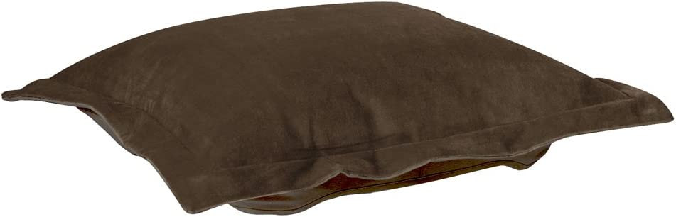 Howard Elliott Puff Ottoman Cushion With Cover, Bella Chocolate