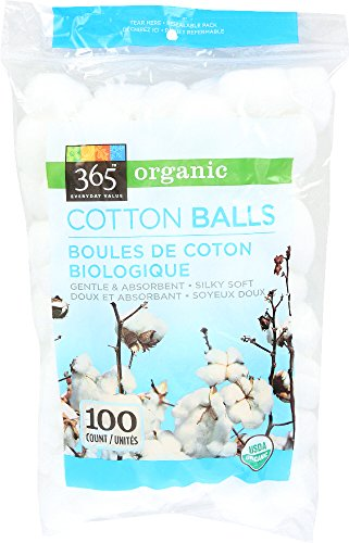 365 Everyday Value, Organic Cotton Balls, 100 Count (Ball Cotton The)