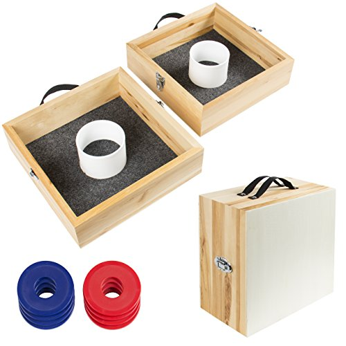 wood washer toss game set outdoor backyard party games mypointsaver