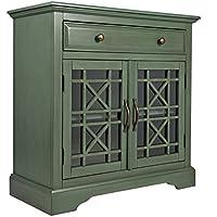 Jofran: 475-32, Craftsman, Accent Chest, 32W X 15D X 32H, Antique Jade Finish, (Set of 1)