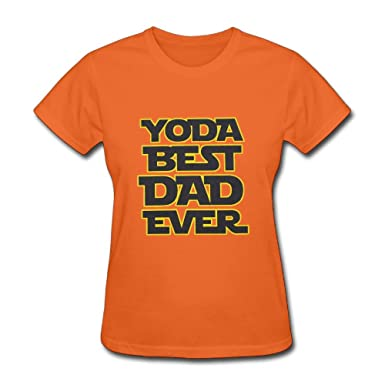 159428866 LucyEve Womans Fashion Soft O-Neck Yoda Best Dad Ever Tshirts at Amazon  Women's Clothing store: