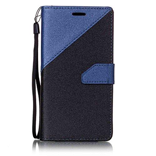 Sunroyal ® Funda para Huawei Y5 II PU Leather Cuero Flexible Suave Case [Anti-Gota] Ultra Slim Bookstyle Flip Caso Huawei Y5 II Carcasa Cierre Magnético,Función de Soporte,Billetera con Tapa para Tarj A-04