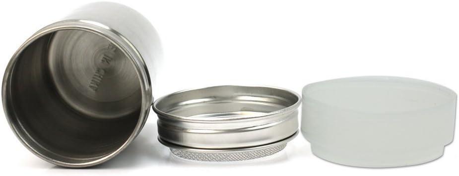 de malla fina AJOYCN 8 x 6 x 4 cm para manualidades de cocina Botella de acero inoxidable para polvo y polvo de cacao