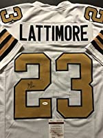 Autographed/Signed Marshon Lattimore New Orleans Saints Color Rush Football Jersey JSA COA