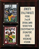 "NFL Pittsburgh Steelers Jerome Bettis Career Stat Plaque, 8"" x 10"", Brown"