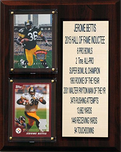 C&I Collectables NFL Pittsburgh Steelers Jerome Bettis Career Stat Plaque, 8