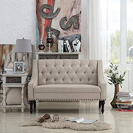 Awesome Amazon Com French Glam Modern Style Sofa Upholstered Machost Co Dining Chair Design Ideas Machostcouk
