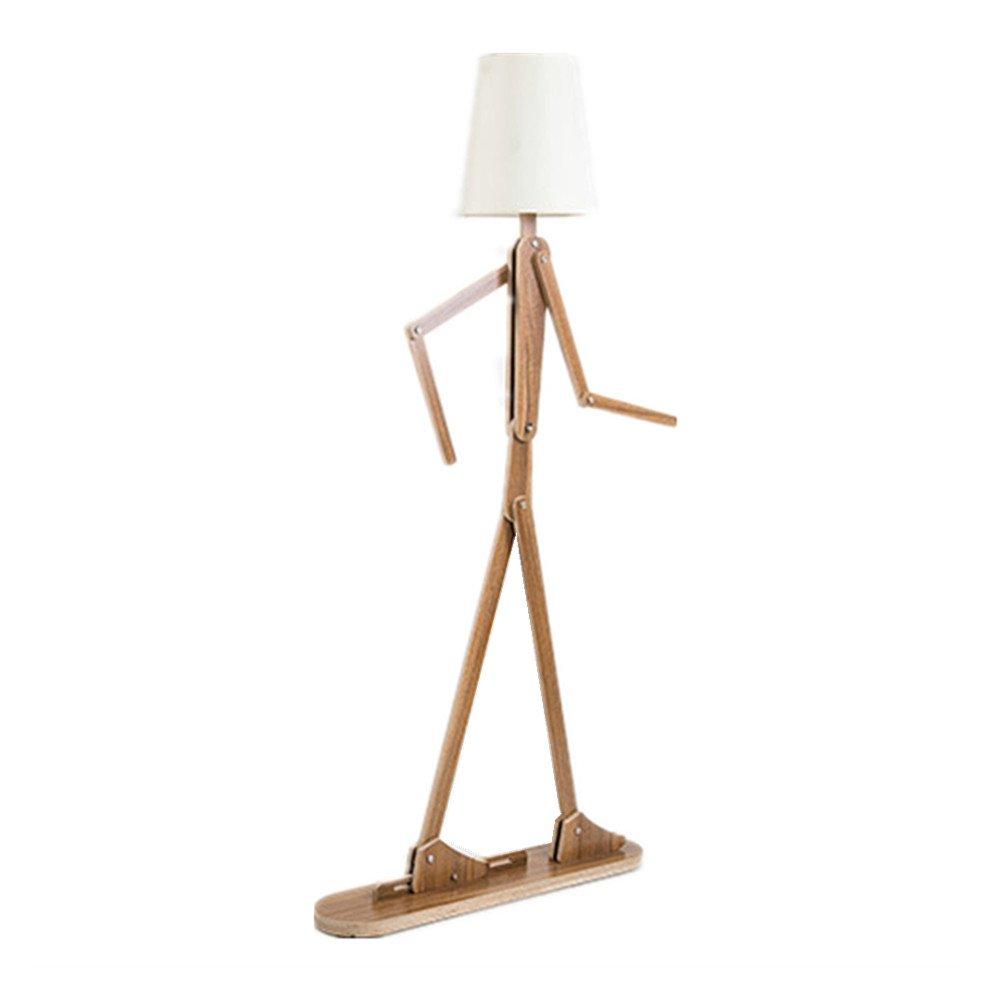 antropomorfo lámpara de pie LED madera color original Modern ...