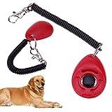 UEB Universal Pet Trainer Dogs Training Clicker Key Chain Pet Training(Red)