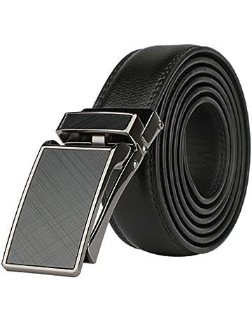 b7a7805c02a Men's Comfort Genuine Leather Ratchet Dress Belt with Automatic Click Buckle