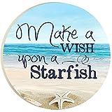 P. Graham Dunn Make A Wish Starfish Car Coaster One Size