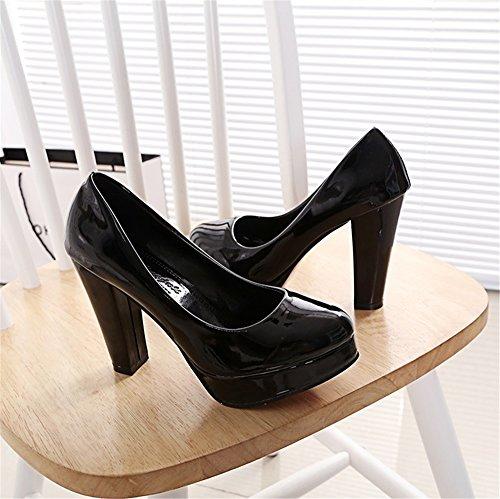nouvelles talons 2018 Us9 5 Color TMKOO sauvages Noir talons chaussures printemps dames eu41 uk7 dames rond travail Noir chaussures de cn42 hauts hauts Taille 5 0qddn5wB