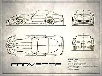 Corvette C3 White - Fine Art Print on Fine Art Paper - PRINT ONLY ...