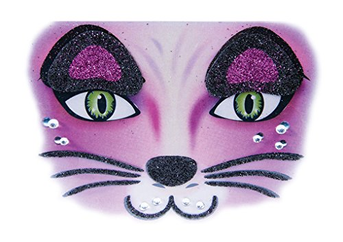 Spider Web Makeup (Instant Makeup - Face Designs - Tiger - Leopard - Bones - Spiderweb- Bunny - Cat (Cat))