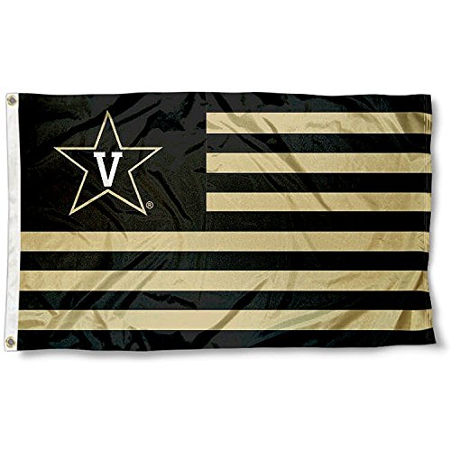 Vanderbilt Commodores Stars and Stripes Nation College Flag