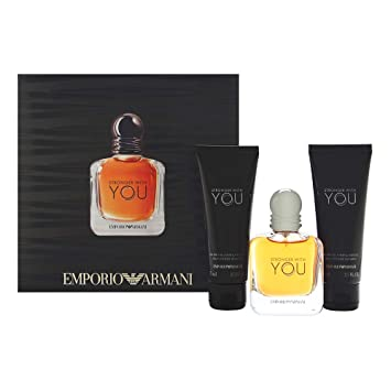 22cb3f4557268 Amazon.com   Emporio Armani Stronger With You for Men 3 Piece Set Includes   1.7 oz Eau de Tolilette Spray + 2 x All Over Shampoo   Beauty